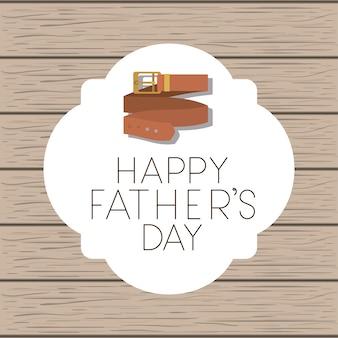 Dzień szczęśliwy ojców z eleganckim paskiem