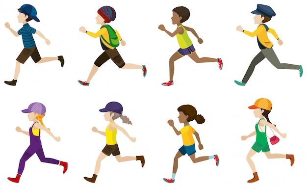 Dzieci biegają