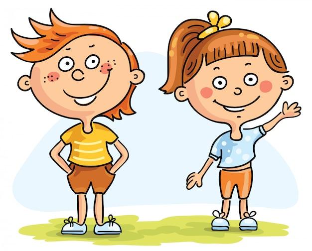 Dzieci, chłopiec i dziewczynka