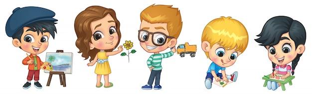 Dzieci do rysowania i malowania