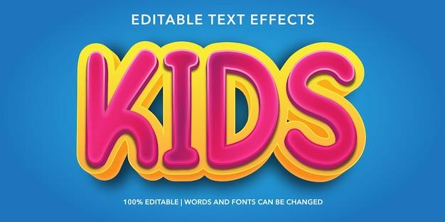 Dzieci edytowalny efekt tekstowy