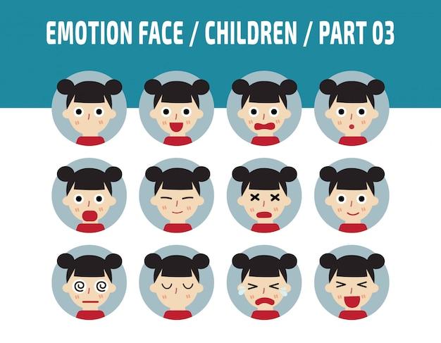 Dzieci emocje awatar stawia czoła.