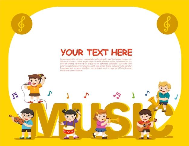 Dzieci grają na instrumentach muzycznych