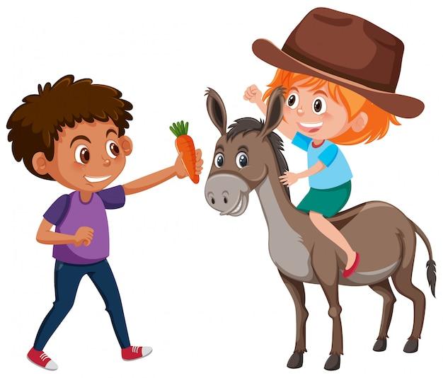 Dzieci i charakter osła