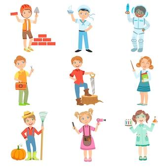 Dzieci i ich wymarzone prace