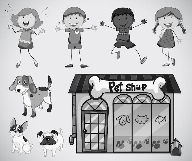 Dzieci i zwierzak