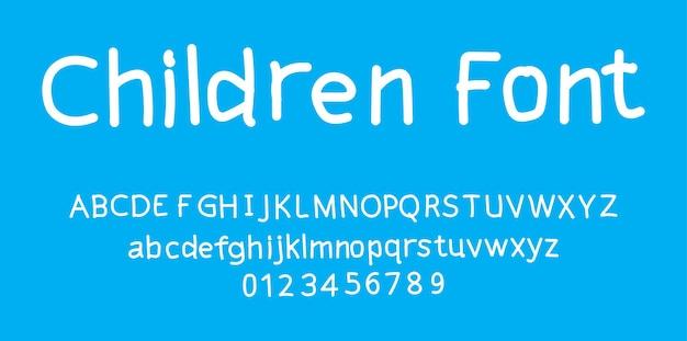 Dzieci ładny alfabet czcionki
