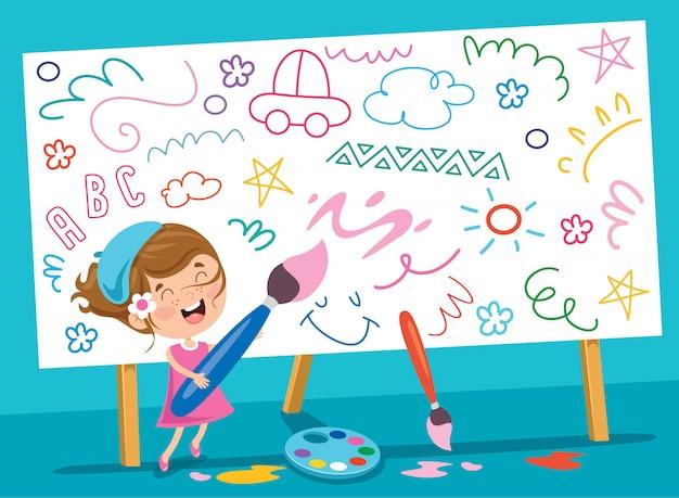 Dzieci malowanie transparentu