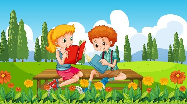 Dzieci na tle przyrody naszych drzwi