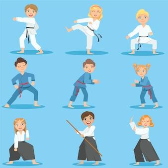 Dzieci na trening sztuk walki