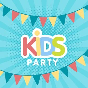 Dzieci party list znak plakat