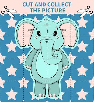 Dzieci planszowa gra logiczna ze zwierzętami dla przedszkolaków