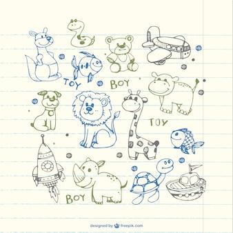 Dzieci rysunki zwierząt