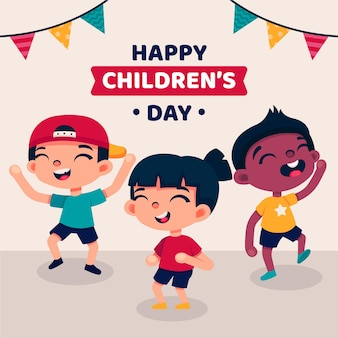 Dzieci śmieją się światowy dzień dziecka