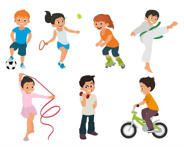 Dzieci sportowe aktywnie uczestniczą w sporcie.