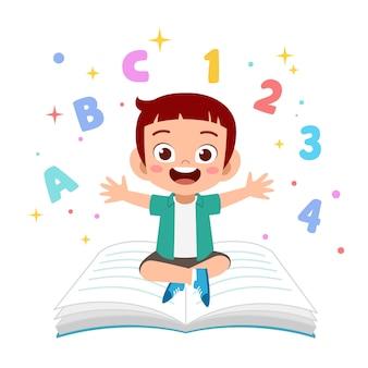Dzieci uczą się czytać ilustrację