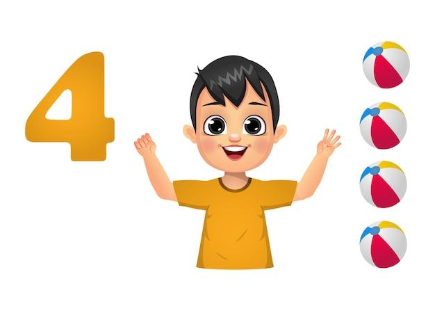 Dzieci uczą się liczenia palcami