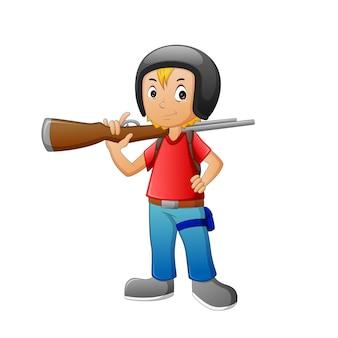 Dzieci używają kreskówek z bronią