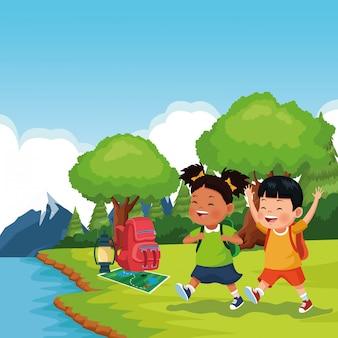 Dzieci w szkolnej wycieczce