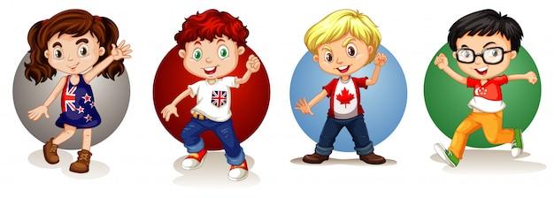 Dzieci z różnych krajów