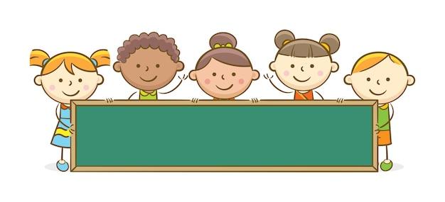 Dzieci z tablicą