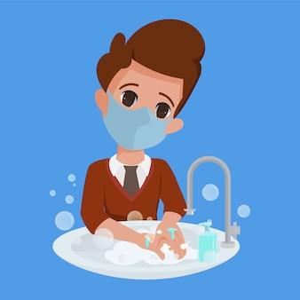 Dzieci zawsze myją ręce charakter.
