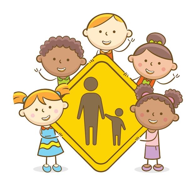Dzieci ze znakiem rodzicielskim