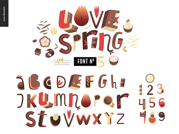 Dzieci zestaw alfabetu gradientu