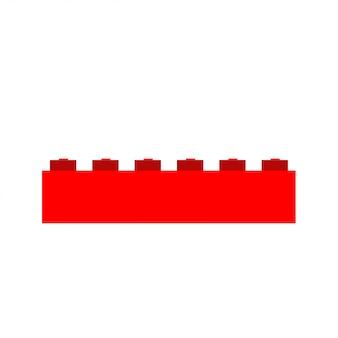 Dzieciak czerwonej cegły kreskówki bloku dziecka zabawki ilustracyjny projekt.