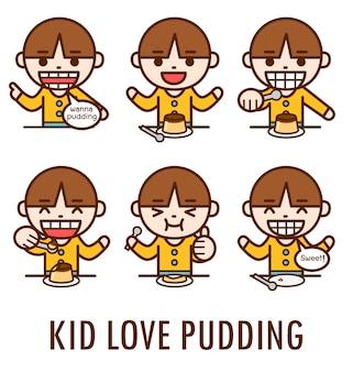 Dzieciak kocha pudding