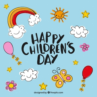 Dziecięcy projekt dnia z elementami
