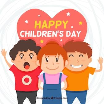 Dziecięcy projekt dnia z radosnymi dziećmi