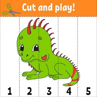 Dziecinna gra ze zwierzęciem do nauki liczb