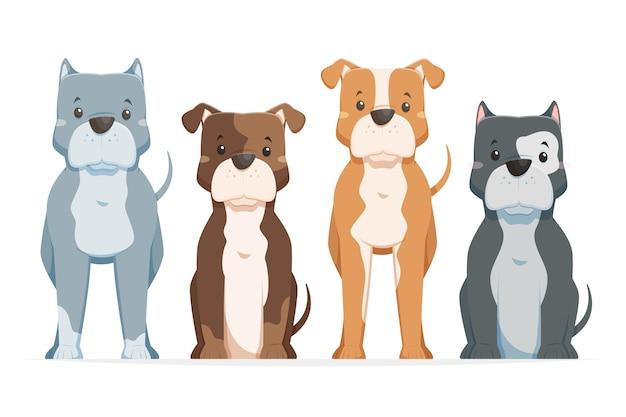 Dziecinna paczka kreskówek pitbull
