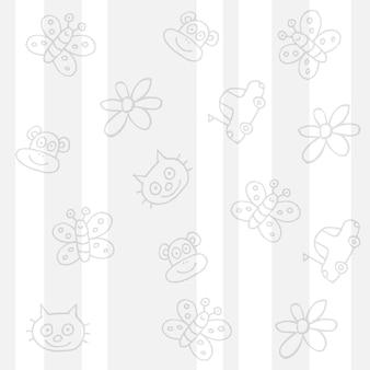 Dziecinne białe tło