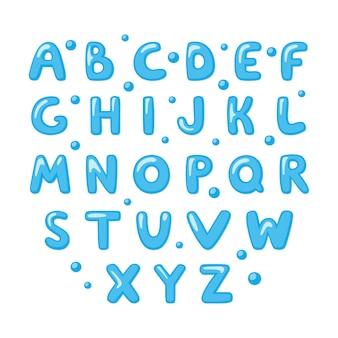 Dziecinne słodkie alfabetu angielskiego.