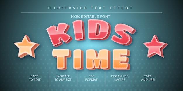 Dziecinny efekt tekstowy, styl czcionki