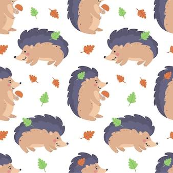 Dziecinny wzór z jeżami