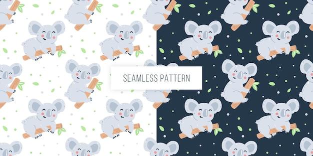 Dziecinny wzór z koalami