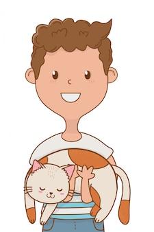 Dzieciństwo szczęśliwe dziecko kreskówka