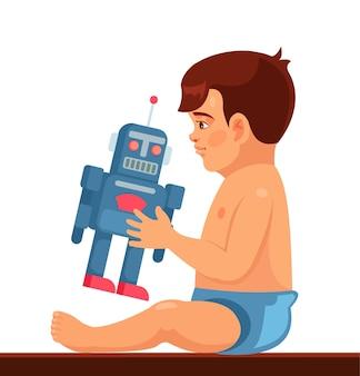 Dziecko bawić się zabawką.