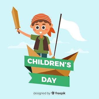 Dziecko dnia wydarzenie z ilustracyjnym projektem