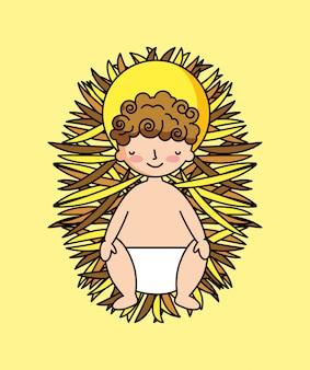 Dziecko jezusa w żłobie