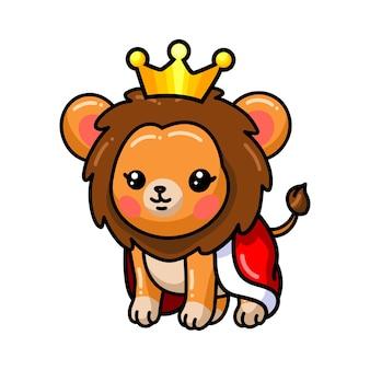 Dziecko król lew kreskówka na białym tle