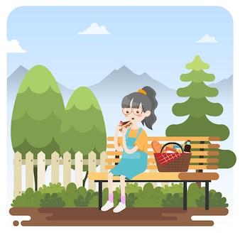 Dziecko na pikniku