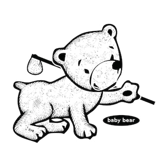 Dziecko niedźwiedź vintage