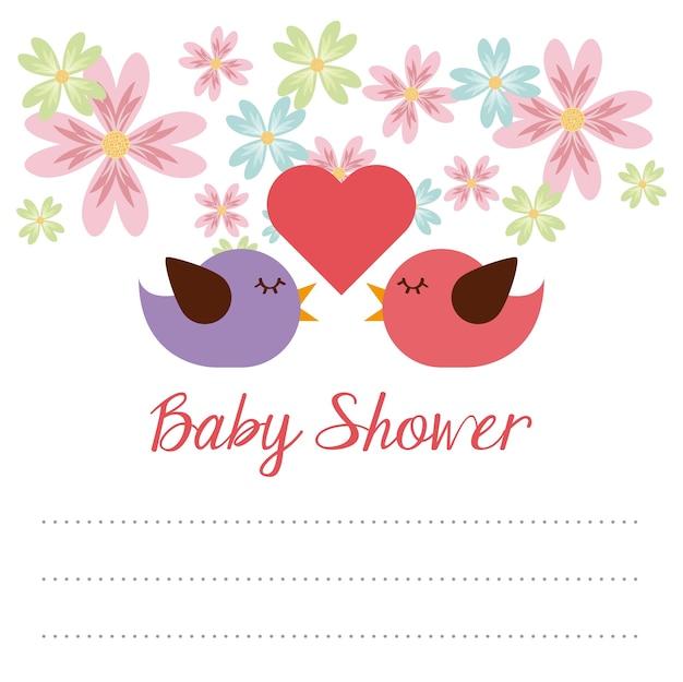 Dziecko prysznic projekt, wektorowa ilustraci eps10 grafika