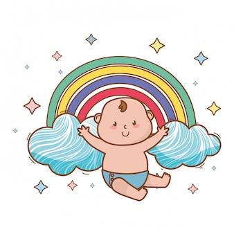 Dziecko prysznic śliczna piękna ilustracja