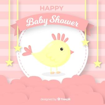 Dziecko prysznic szablon dla dziewczyny