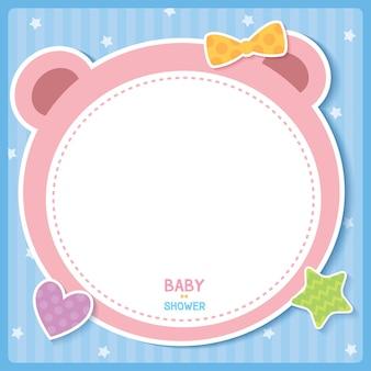 Dziecko różowy niedźwiedź
